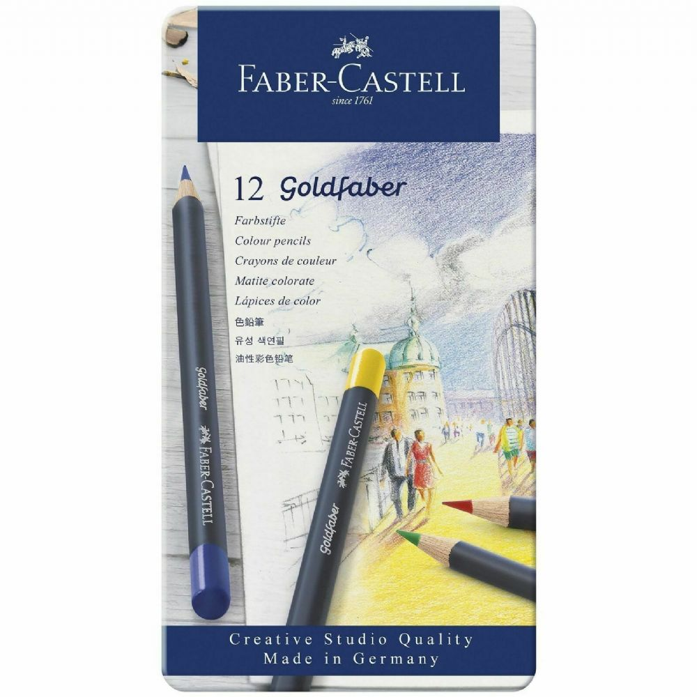 Goldfaber Aqua Watercolour Pencils 12 Tin